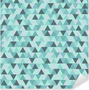 Abstract Christmas triangle pattern, blue grey geometric winter holiday background Pixerstick Sticker