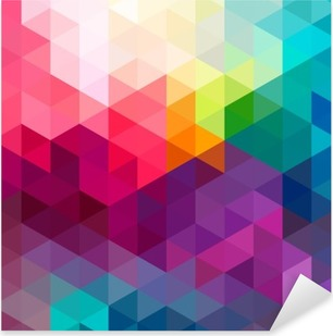Abstract colorful seamless pattern background Pixerstick Sticker