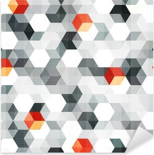 abstract cubes seamless pattern with grunge effect Pixerstick Sticker