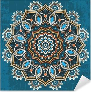 Abstract ethnic round ornament Pixerstick Sticker