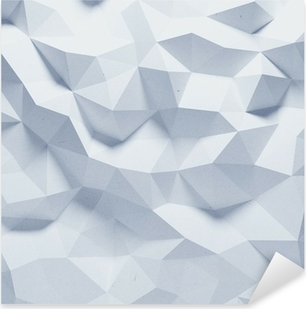 Abstract faceted geometric paper background Pixerstick Sticker