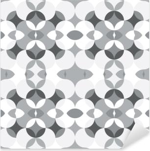 Pixerstick Sticker Abstract floral geometrische naadloze patroon. caleidoscopische, licht witte en grijs gekleurde vormen.