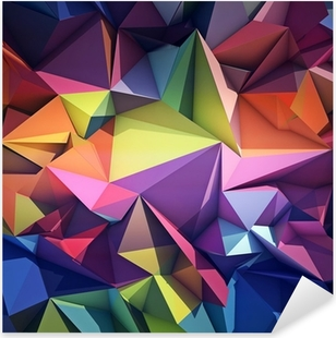 Abstract geometric background Pixerstick Sticker