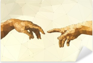 Abstract God's hand vector illustration Pixerstick Sticker