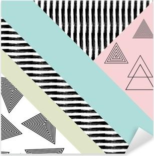 Pixerstick Sticker Abstract hand getekende geometrische patroon