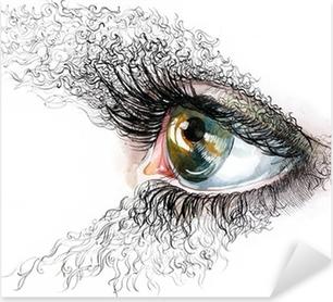 abstract human eyes Pixerstick Sticker
