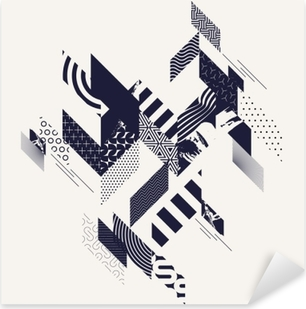Abstract modern geometric background Pixerstick Sticker