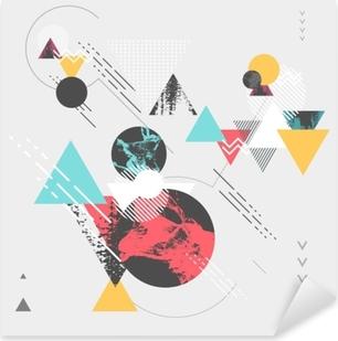 Abstract modern geometric background Pixerstick Sticker
