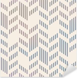 Pixerstick Sticker Abstract Naadloos Geometrische Vector Chevron. mesh backgro