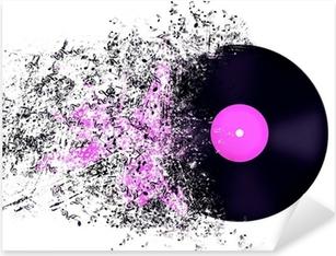 Abstract representation of Vinyl record. Pixerstick Sticker