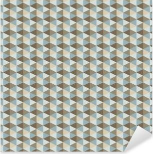 abstract retro geometric pattern Pixerstick Sticker