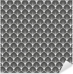 Abstract Seamless Art Deco Vector Pattern Texture Pixerstick Sticker