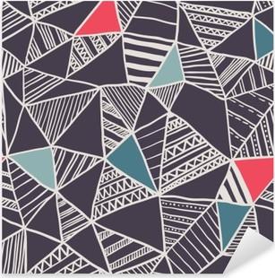 Abstract seamless doodle pattern Pixerstick Sticker