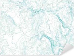 abstract topographic map, vector background Pixerstick Sticker