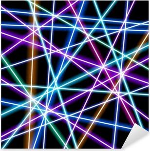 Sticker Pixerstick Abstract vector background, des lignes plus brillants, la géométrie, de la technologie, papier peint au néon