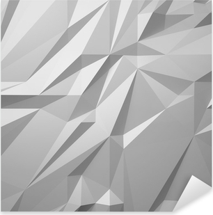 abstract white background low poly Pixerstick Sticker