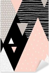 Pixerstick Sticker Abstracte Geometrische Landschap