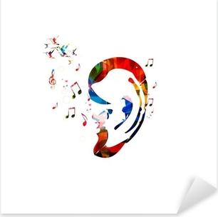 Pixerstick Sticker Abstracte kleurrijke oor vector