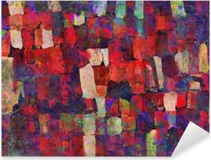 Pixerstick Sticker Abstracte kunst schilderij