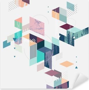 Pixerstick Sticker Abstracte moderne geometrische achtergrond