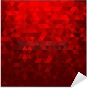 Pixerstick Sticker Abstracte rode mozaïekachtergrond