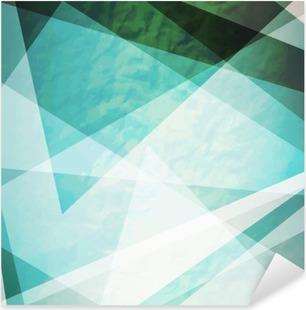 Pixerstick Sticker Abstractie retro grunge driehoeken vector achtergrond