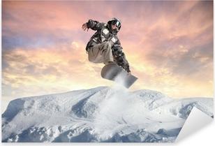 Sticker Pixerstick Acrobaties d'hiver