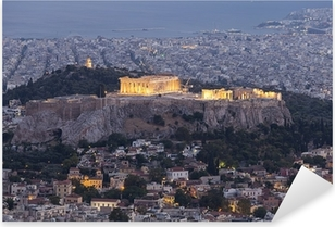 Acropolis and Parthenon,Athens,Greece Pixerstick Sticker