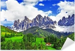Pixerstick Sticker Adembenemende natuur van de Dolomieten. Italiaanse Alpen
