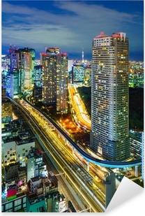 Aerial view of Tokyo skyscrapers, Minato, Japan Pixerstick Sticker
