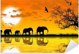 Africa Pixerstick Sticker