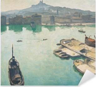 Sticker Pixerstick Albert Marquet - Port de Marseilles