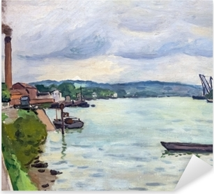Albert Marquet - The Seine (around Rouen) Pixerstick Sticker
