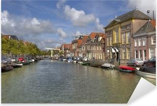 Pixerstick Sticker Alkmaar Canal, Holland