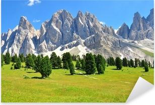 Alps on summer Pixerstick Sticker
