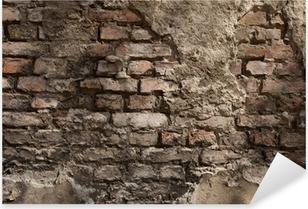 alte Wand - Hintergrund - Backstein Pixerstick Sticker