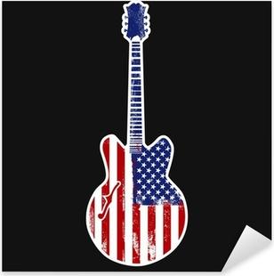 american rock n roll Pixerstick Sticker