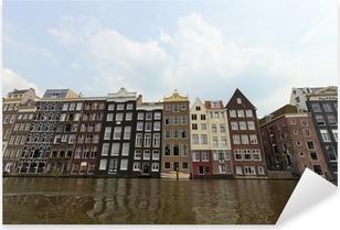 Pixerstick Sticker Amsterdamse grachtenpanden
