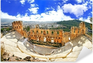 ancient theater in Acropolis Greece, Athnes Pixerstick Sticker