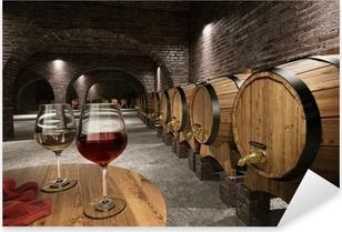 Ancient wine cellar Pixerstick Sticker