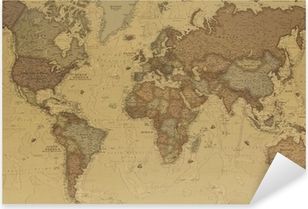 Pixerstick Sticker Ancient World map