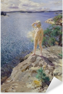 Anders Zorn - In the Skerries Pixerstick Sticker