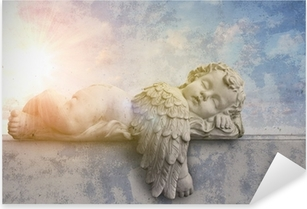Sticker Pixerstick Ange dormir au soleil