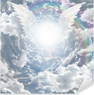 Angelic presence in tunnel of light Pixerstick Sticker