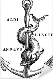 Pixerstick Sticker Antieke illustratie zee anker