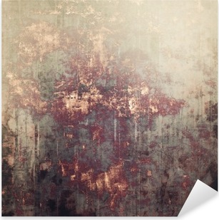 Antique vintage textured background. With different color patterns: yellow (beige); brown; gray; black Pixerstick Sticker