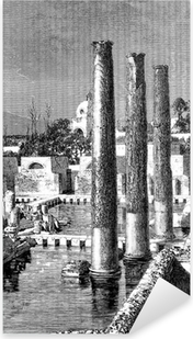 Sticker Pixerstick Antiquités - Ruines - Temple: Jupiter Sérapis - Naples