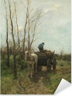Anton Mauve - Gathering Wood Pixerstick Sticker