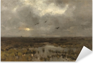 Anton Mauve - The Swamp Pixerstick Sticker