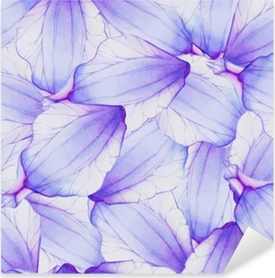 Pixerstick Sticker Aquarel naadloze patroon met paarse bloemblad